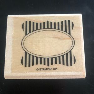 ✨3/$15 Stampin' Up Striped Empty Frame Stamper